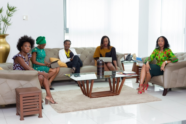 Canva - Group of Women Sitting on Couch